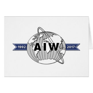 AIW 25th Anniversary Logo Blank Note Card