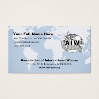 AIW Info Card and/or Business Card