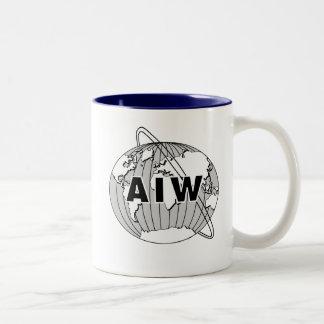 AIW Logo Mug - Navy Interior