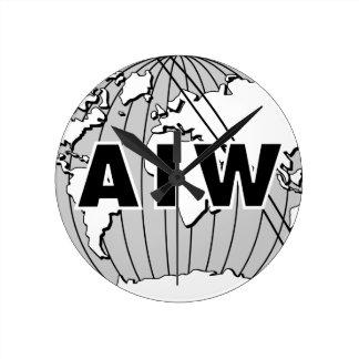 AIW Logo Round Clock