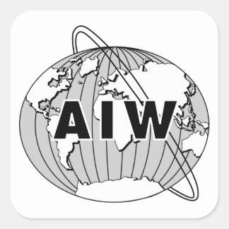 AIW Logo Stickers - Black & White