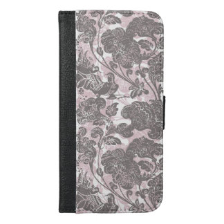 Aix galericulata style lady pink iPhone 6/6s plus wallet case