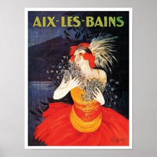 Aix Les Bains Travel Poster