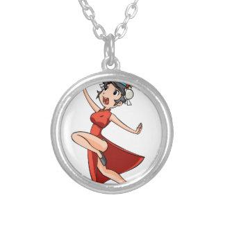 aiya English story Yokohama Kanagawa Yuru-chara Silver Plated Necklace