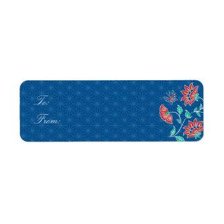 Aiyana Floral Batik Gift Tag Label Return Address Label