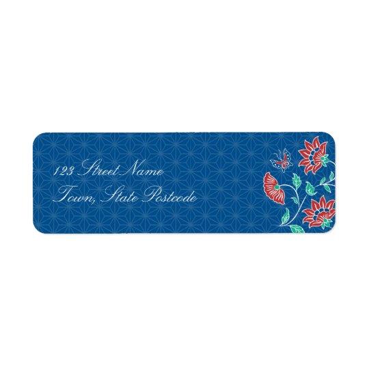 Aiyana Floral Batik Return Address Label