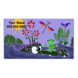 AJ- Frog Sitting on an Alligator Business Cards