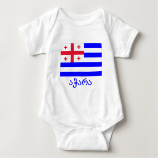 Ajaria Flag with Name in Georgian Baby Bodysuit