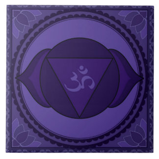 Ajna (Āgyā) or Third Eye Chakra Ceramic Tile