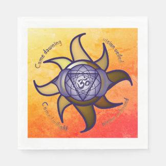 "Ajna Chakra ""Third Eye"" Yoga Insight Paper Napkins Disposable Serviette"