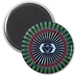 Ajna Enlightenment, Third Eye, Chakra Symbol, Yoga Magnet