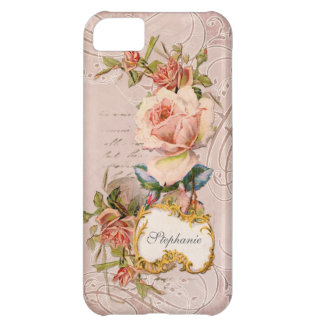 AJR-PAPER-VINTAGE-teastained-pink-roses-1F.jpg iPhone 5C Case