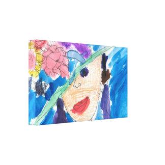 AJ's Hat Lady Canvas Print