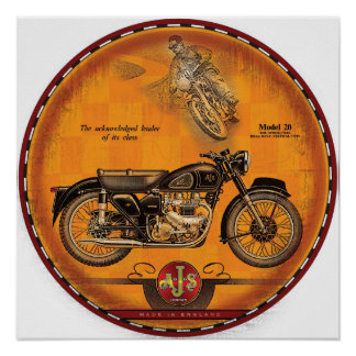 AJS motorcycles of London Poster