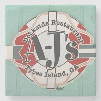 AJ's, Savannah, Tybee, Marble Stone Coaster