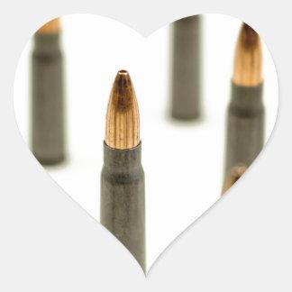 AK-47 Ammo Bullet AK47 Cartridge 7.62x39 Heart Sticker