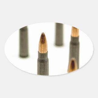 AK-47 Ammo Bullet AK47 Cartridge 7.62x39 Oval Sticker