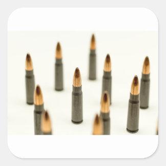 AK-47 Ammo Bullet AK47 Cartridge 7.62x39 Square Sticker