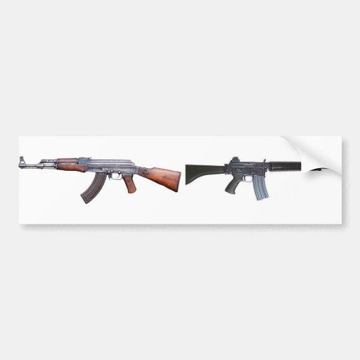 AK-47 & AR-18 BUMPER STICKER