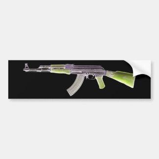 AK-47 Negative Green Bumper Sticker