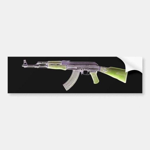 AK-47 Negative Green Bumper Stickers
