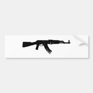 AK-47 Silhouette Car Bumper Sticker