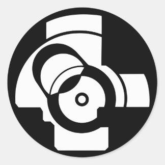AK Boltface Classic Round Sticker