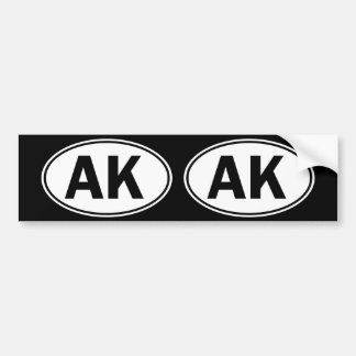 AK Oval ID Bumper Sticker