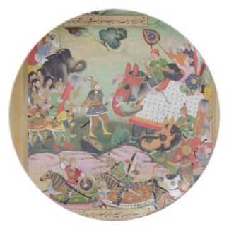 Akbar receiving the drums and standards captured f plate