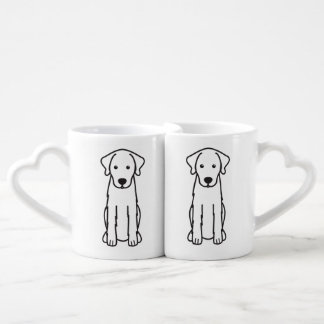 Akbash Dog Cartoon Coffee Mug Set