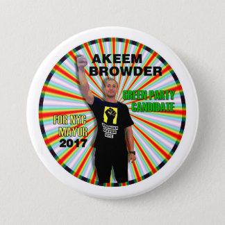 Akeem Browder for NYC Mayor 7.5 Cm Round Badge