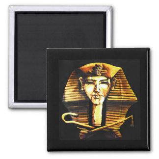 Akhenaten Egyptian Pharaoh Death Mask Square Magnet