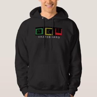 AKI skateboars sweater has hood LOGO RASTA series