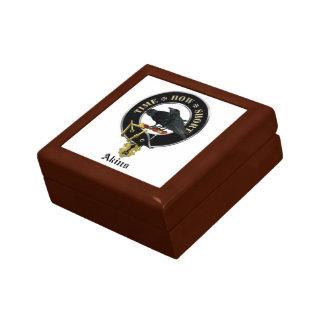 Akins clan crest ceramic tile keepsake box