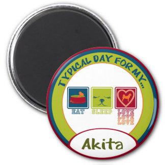 Akita 6 Cm Round Magnet