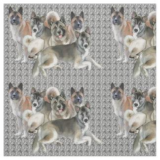 Akita Collage Fabric