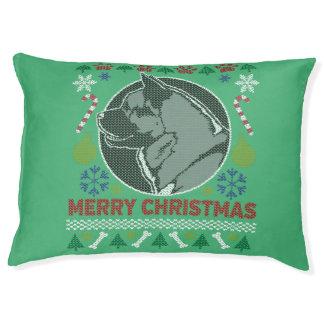 Akita Dog Breed Ugly Christmas Sweater Pet Bed