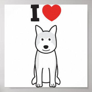 Akita Dog Cartoon Poster