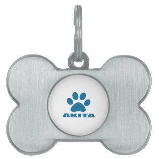 AKITA DOG DESIGNS PET ID TAG