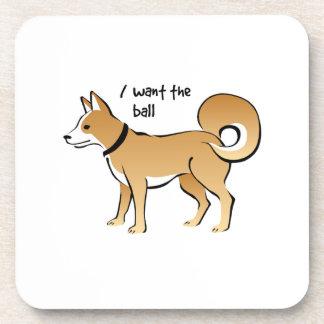 Akita Dog Illustration Fetch Pet Coasters