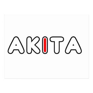 akita flag in name postcard