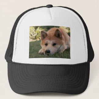Akita Inu Dog Deep Thoughts Trucker Hat