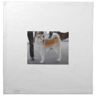 Akita Inu Dog In A Dog Show Napkin