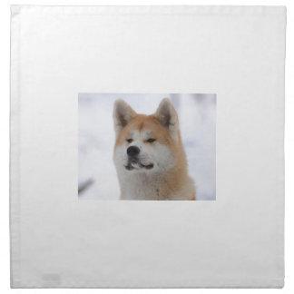 Akita Inu Dog Looking Serious Napkin