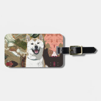 Akita Inu Dog Luggage Tag