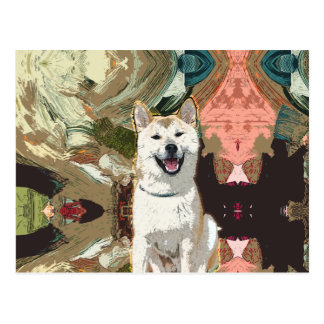 Akita Inu Dog Postcard