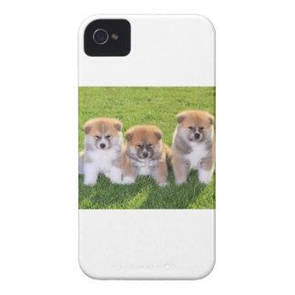 Akita Inu Dog Puppies iPhone 4 Case