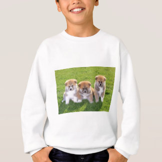 Akita Inu Dog Puppies Sweatshirt