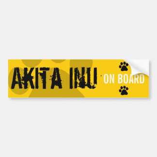 Akita Inu on Board Bumper Sticker