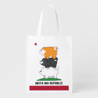 Akita Inu Republic Reusable Grocery Bag